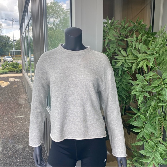 Vince Raw Edge Cropped Pullover Sweater